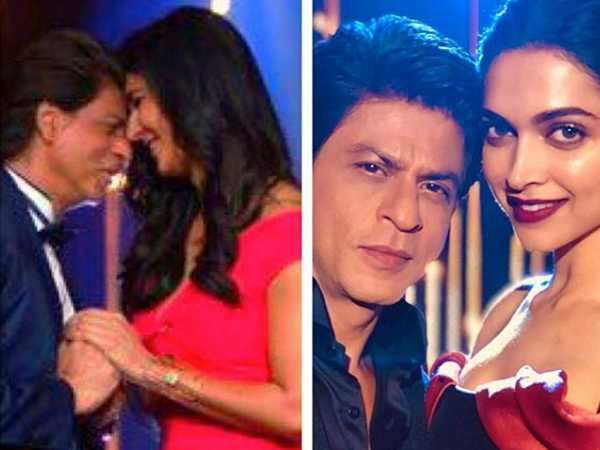 This picture of Shah Rukh Khan with Katrina Kaif and Deepika Padukone is pure magic