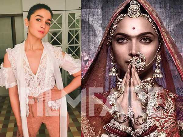 Alia Bhatt says she jumped after seeing Deepika Padukone's Padmavati look