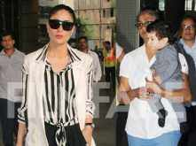 So cute! Taimur Ali Khan is twinning in monochrome with mamma Kareena Kapoor Khan in these pictures!