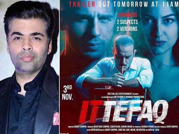 "Karan Johar believes ""Less is more"" for his upcoming thriller Ittefaq"