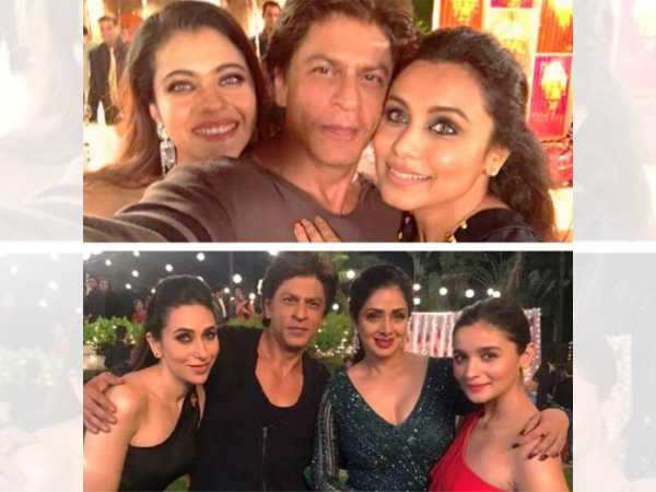 This picture of Shah Rukh Khan with Kajol, Rani, Karisma, Sridevi & Alia is giving us all the feels