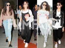 Deepika Padukone, Sonam Kapoor, Kangana Ranaut & Jacqueline Fernandez nail their comfy airport looks
