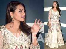 Sonakshi Sinha looks like vision in white at a Diwali party