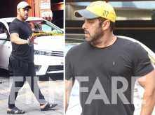 Photos: Salman Khan makes his way to Arpita Khan's Diwali Puja