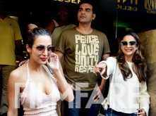 Pictures: Arbaaz Khan and Malaika Arora step out for a lunch date with their family