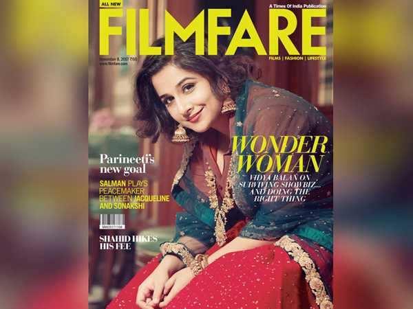 Vidya Balan dazzles on Filmfare's latest cover