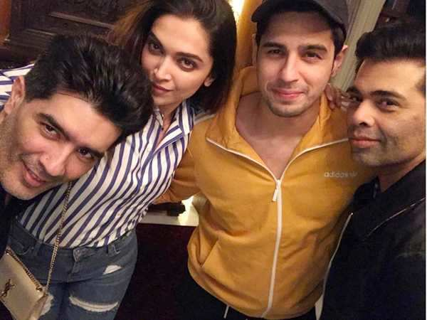 Deepika Padukone parties with Sidharth Malhotra