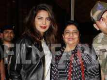 Priyanka Chopra and Madhu Chopra say goodbye to India