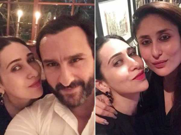 Karisma Kapoor spends some quality time with Kareena Kapoor Khan and Saif Ali Khan