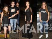 Malaika Arora, Arbaaz Khan, Amrita Arora and Sonakshi Sinha party together