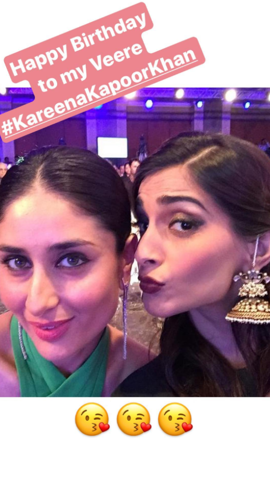 Sonam Kapoor wishes Kareena Kapoor Khan on her 37th Birthday