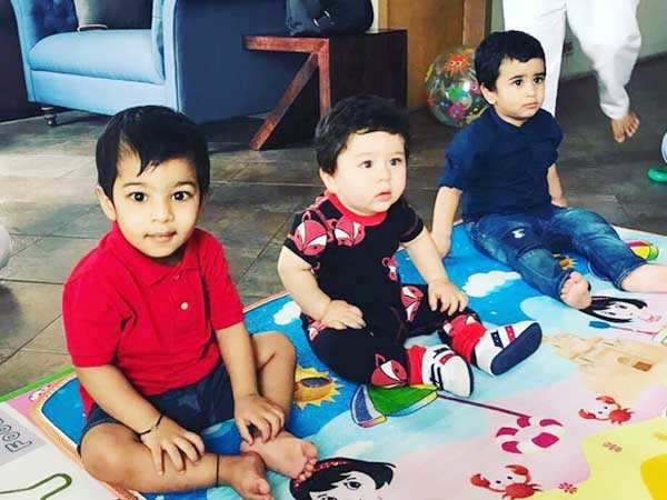 Aww! Check out this photo of Taimur Ali Khan and Laksshya Kapoor enjoying their play date together