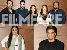 Vidya Balan, R Madhavan, Diana Penty and Jackky Baghnani spotted at the special screening of Shubh Mangal Saavdhan
