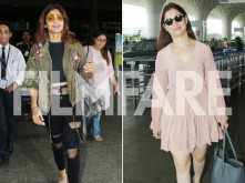 Airport-look face off -- Shilpa Shetty or Tamannaah Bhatia -- who pulled it better?