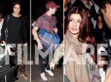 Akshay Kumar, Twinkle Khanna, Aarav and Nitara return from Switzerland