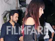 Photos: Emraan Hashmi enjoys his dinner date with wife Parveen Shahani