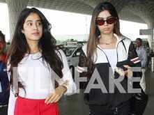 Pictures: Jhanvi Kapoor and Khushi Kapoor walk hand in hand at the airport