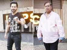 Pictures! Varun Dhawan and David Dhawan head out for Judwaa 2 promotions