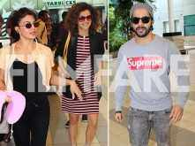 Varun Dhawan, Jacqueline Fernandez and Taapsee Pannu finally return to Mumbai