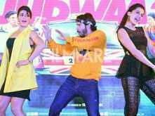 Varun Dhawan, Jacqueline Fernandez and Taapsee Pannu have a gala time promoting Judwaa 2