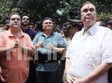 Ranbir Kapoor, Rishi Kapoor, Randhir Kapoor and Rajeev Kapoor snapped at RK Ganpati Visarjan
