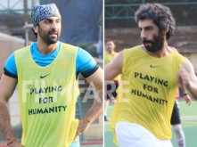 Ranbir Kapoor and Jim Sarbh sweat it on the football field