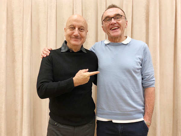 Anupam Kher meets renowned filmmaker Danny Boyle in New York