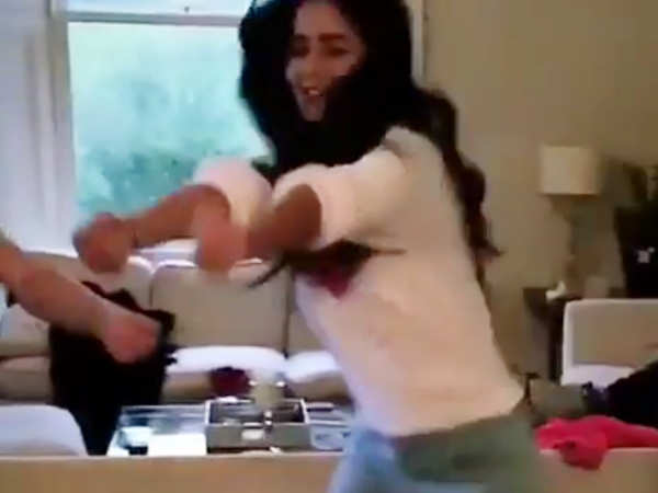Video Alert! Katrina Kaif's victory dance with her sister is cute