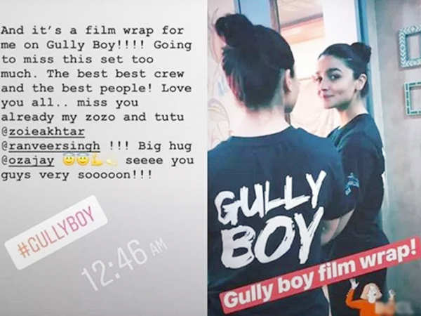 Alia Bhatt wraps up Gully Boy