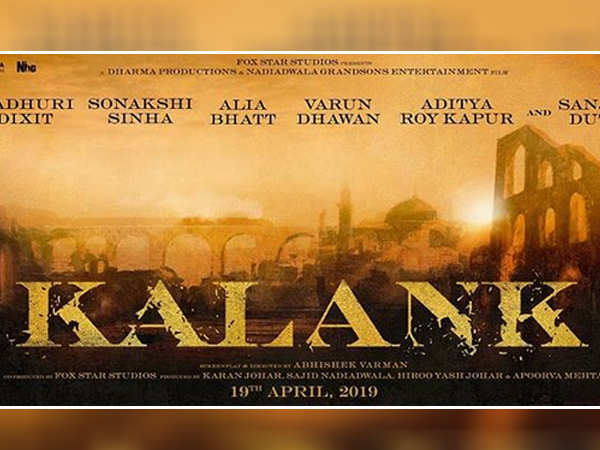 Dharma's epic drama Kalank to release on 19th April 2019
