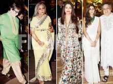 Amitabh, Jaya, Aishwarya Rai and Shweta Bachchan attend a wedding