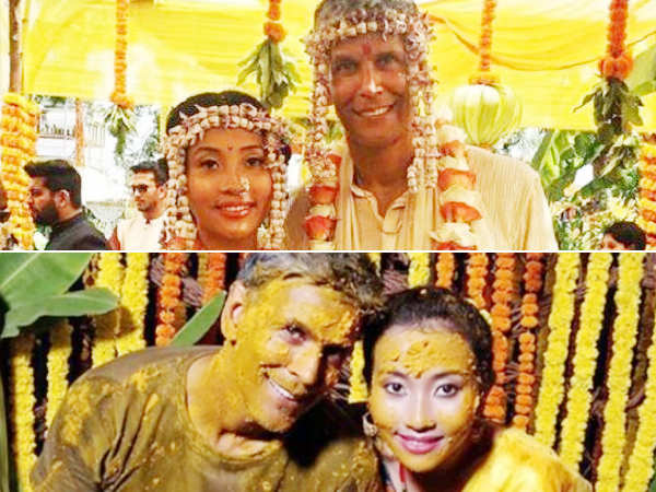 Inside pictures! Milind Soman ties the knot with Ankita Konwar in Alibaug