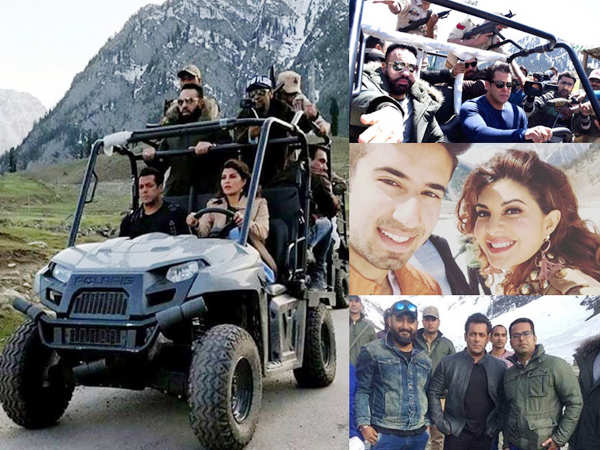 Salman Khan shoots for Race 3 at the Thajiwas glacier in J&K