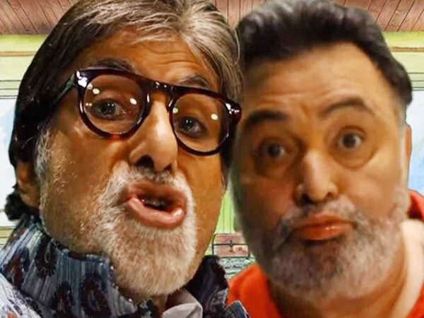 Amitabh Bachchan teaches Rishi Kapoor the art of pouting