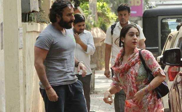 Sara Ali Khan, Saif Ali Khan