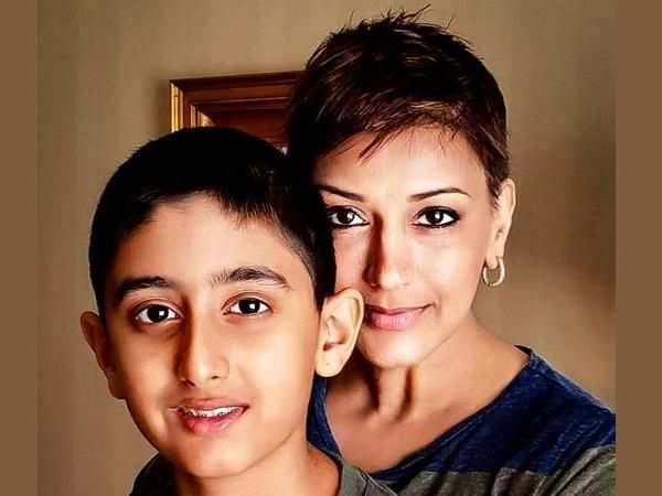 Sonali Bendre wishes son Ranveer on his birthday, says misses him terribly