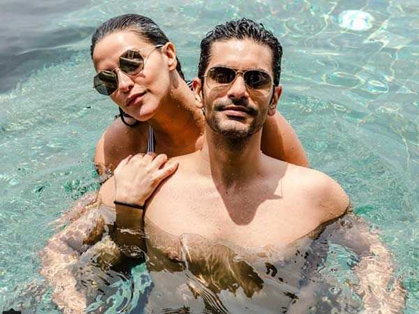 Neha Dhupia enjoys an exotic vacay with husband Angad Bedi in the Maldives