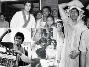 Rare pictures of Amitabh Bachchan after his Coolie accident