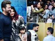 Madhuri Dixit, Abhishek and Aaradhya Bachchan at Fanney Khan's screening