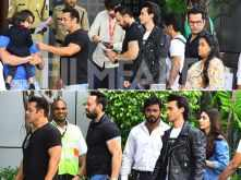 Salman Khan and the LoveRatri duo leave Mumbai after the trailer launch