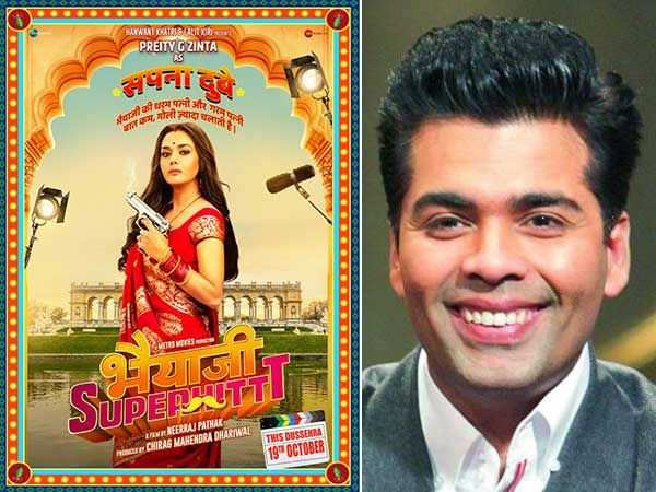 Karan Johar welcomes back Preity Zinta in the movies with Bhaiaji Superhit