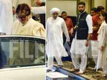 The Bachchans and Kapoors attend the prayer meet of the late Rajan Nanda