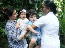 So cute! Cousins Taimur Ali Khan and Inaaya Naumi Kemmu out on a play date
