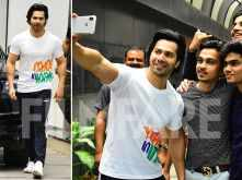 Pictures! Varun Dhawan gets in the feel of Independence Day