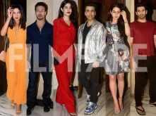 Priyanka Chopra, Karan Johar,Janhvi Kapoor & others at Manish Malhotra bash