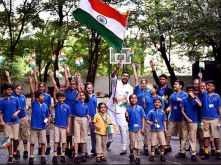 Pictures! Ranveer Singh celebrates Independence Day with little kids