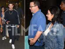 Nick Jonas and his parents arrive in India for the big engagement bash