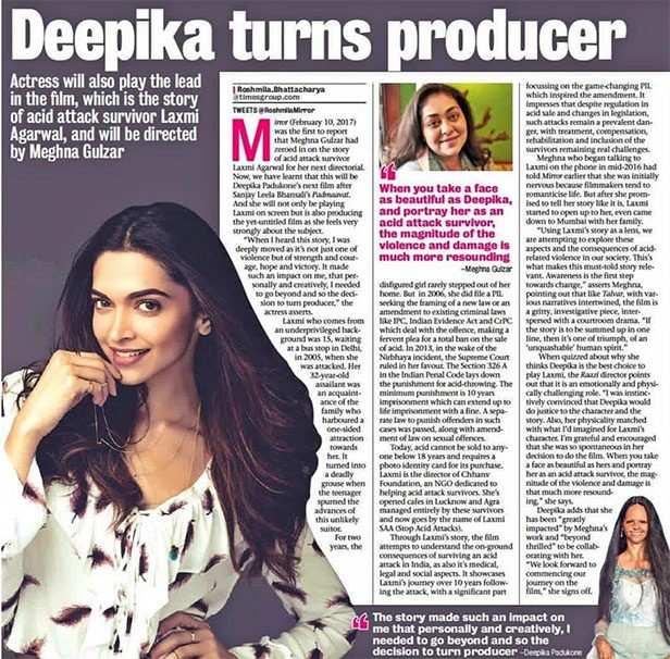 Deepika Padukone, Filmfare, Exclusive, Meghna Gulzar