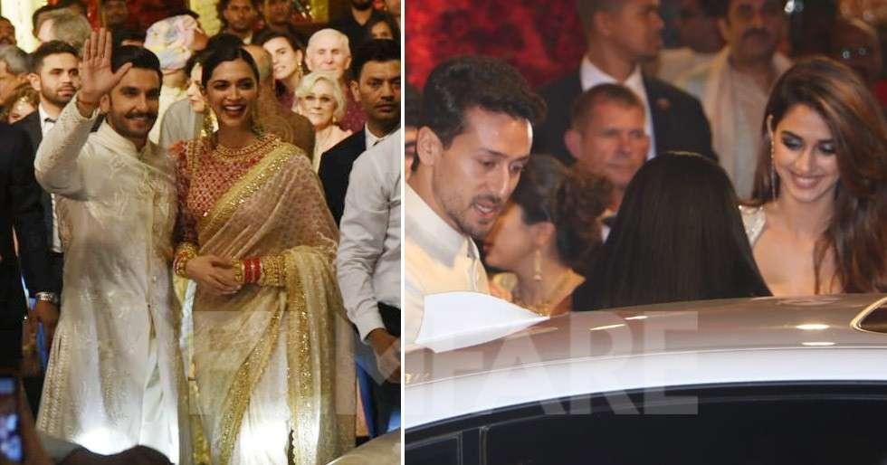 Ranveer-Deepika and Tiger-Disha attend Isha Ambani's wedding together