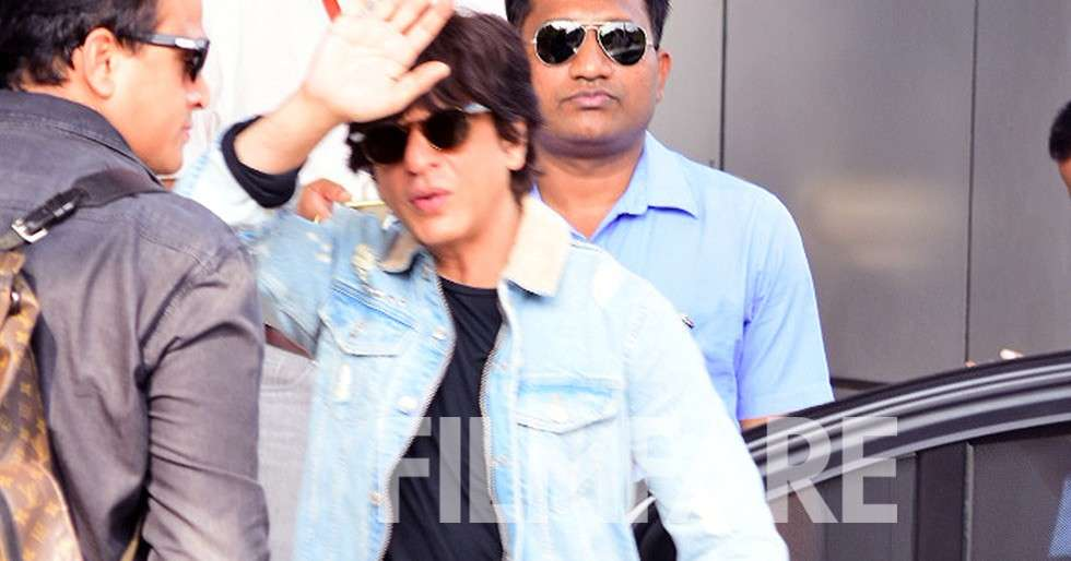 e27e9edfe7 Shah Rukh Khan takes off to Lucknow for Zero promotions